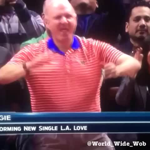 ... History: Steve Ballmer dances to Fergie's concert during Clips game Fergie