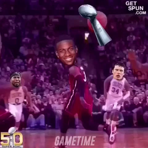 Vine by LeBron James ✅ - #NFL #SB50 Super Bowl replay. 😂😂💀