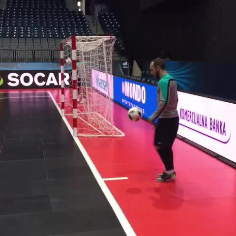 Vine by UEFA Futsal - Futsal tekkers! Watch this Ricardinho trick in Portugal training #FutsalEURO