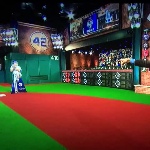 Forget the replay of the Utley/Tejada play. Eric Byrnes provides a reenactment with a cardboard cutout. - Vine by Arash Markazi - Forget the replay of the Utley/Tejada play. Eric Byrnes provides a reenactment with a cardboard cutout.