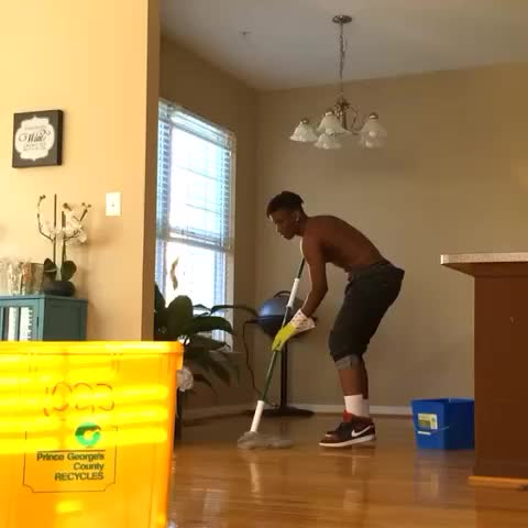 Vine by YouFunnyB - Mopping the floor & your shit come on #youfunnyb #whenyourshitcomeon #comedy