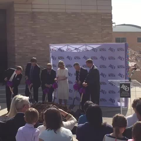 Vine by The Optimist - Provost, SA president, chairman of the board, Schubert and Halbert officially break ground.