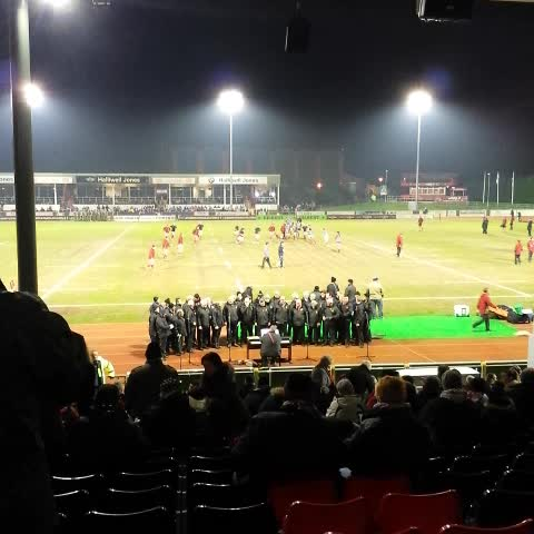 Vine by Rob Griffiths - Wales U20s warming up before KO against Scotland at Parc Eirias.