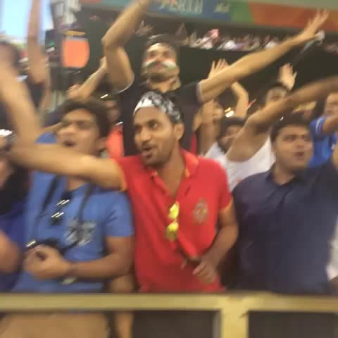 Vine by Cricket World Cup - #IND win by nine wickets and the crowd erupts! #INDvUAE