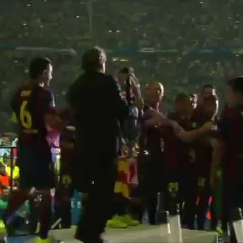 Vine by FC Barcelona - Xavi lifted the UCL trophy one month ago