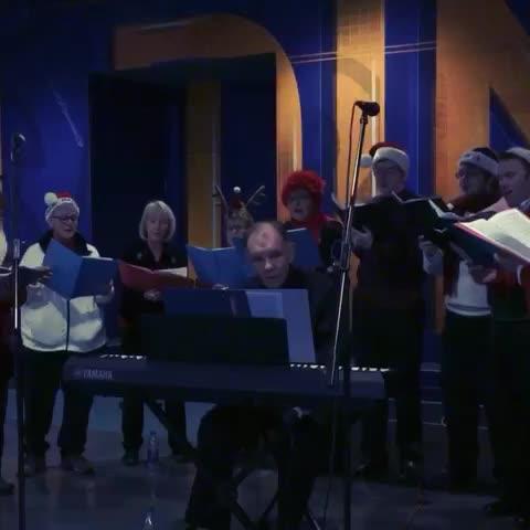 Vine by Craig Kanalley - Choir spreading some holiday cheer as #Sabres fans enter @FirstNiagaraCtr tonight. ???? #COLvsBUF