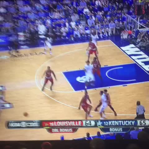 Vine by Matt Norlander - Tyler Ulis channeling Steph Curry today.