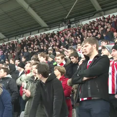 Vine by Southampton FC - #SaintsFC fans celebrate at full time after the 1-0 win against Swansea City FC.