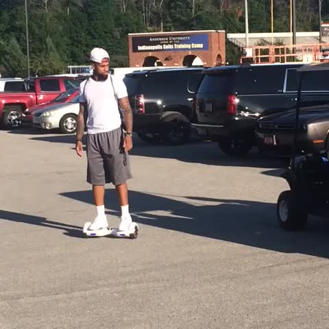 Vine by Steve Andress - Donte Moncrief on a... Mini Segway? I dont know. #ColtsCamp #feedmoncrief @nfl