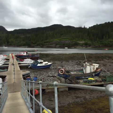"""Watch RebeccaSubbiah RDN's Vine """"Little harbor and lobster traps with the tide out plockton ..."""