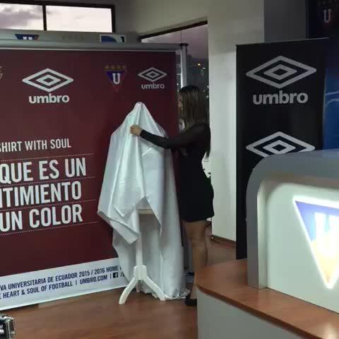Vine by William Dávila B ™ - VIDEO: Así se conoció la nueva camiseta de @LDU_Oficial