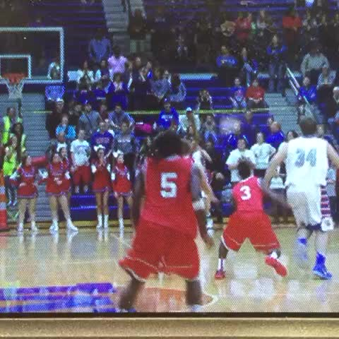 Vine by First String Media - Joe Chism banks shot at buzzer to give Montgomery County the win over GRC.