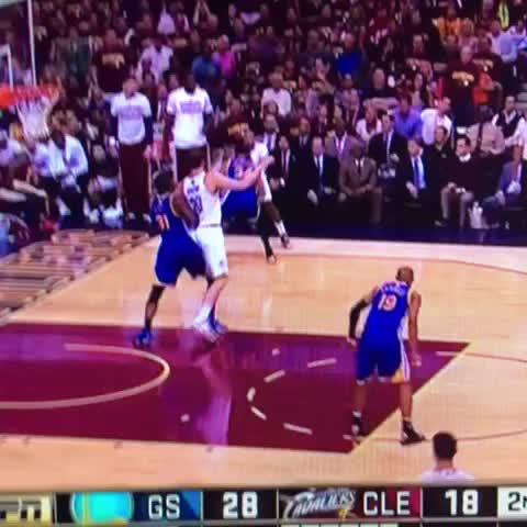 "Watch Tomizille's Vine ""LeBron James hits DEEP corner 3 #cavs #warriors #nba #finals"""