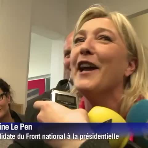 Marine Le Pen à Sciences Po (2012) :