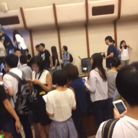 Vine by Bastien 偉忠 Wai-Chung - Scene from inside HKU senate room. Students have taken it over