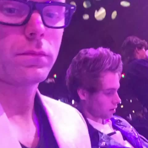 Vine by Nika - 5SOS at Bobby Bones snapchat (part II)!