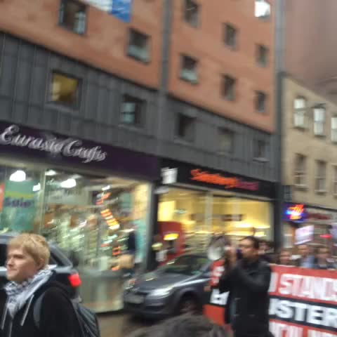 Vine by Liam OHare - Glasgow solidarity demo with Greece is HUGE!