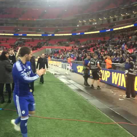 Vine by Chelsea FC - Eden Hazard leaving the Wembley pitch victorious! #CFC #ChelseaFC