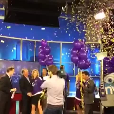 The confetti falls on our announcement with Fox 35! #OurCity - Vine by Orlando City SC - The confetti falls on our announcement with Fox 35! #OurCity