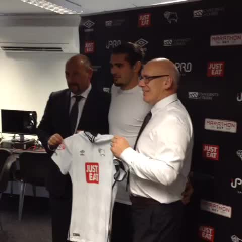 Vine by Derby County - VINE: Bradley Johnson poses for pictures and speaks to #RamsPlayerHD after joining #DCFC on #DeadlineDay