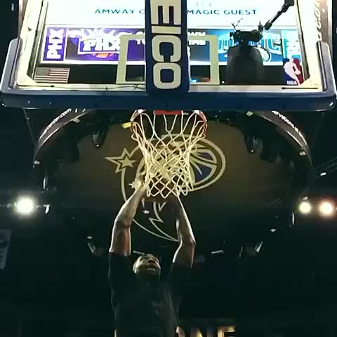 Vine by Orlando Magic - Kyle OQuinn puts on a dunking display during warm ups. #puremagic #orlandomagic #nba