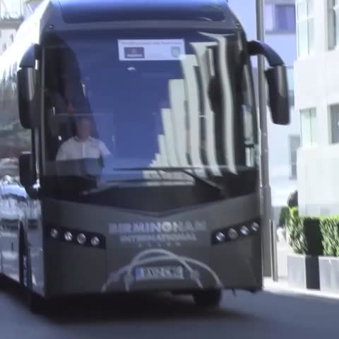 Vine by AVFCOfficial - VILLA AT WEMBLEY: The lads arrive at the team hotel in London. #AVFC