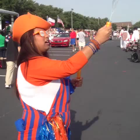 Vine by UT Arlington - Bubble fun before the 50th Annual Arlington Fourth of July parade