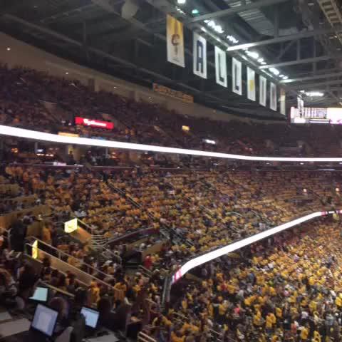 """Watch P.J. ZIEGLER's Vine """"Home crowd cheering NBA Finals #Cavs"""""""