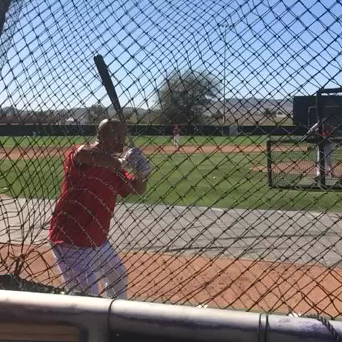 Vine by Jeff Fletcher - This slow mo vine of Albert Pujols took me about 10 tries #Angels