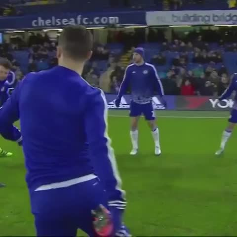 Vine by Chelsea FC - Warming up ahead of playing Newcastle
