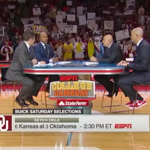 Vine by College GameDay - The Sooners are at home, so J-Will likes their odds.