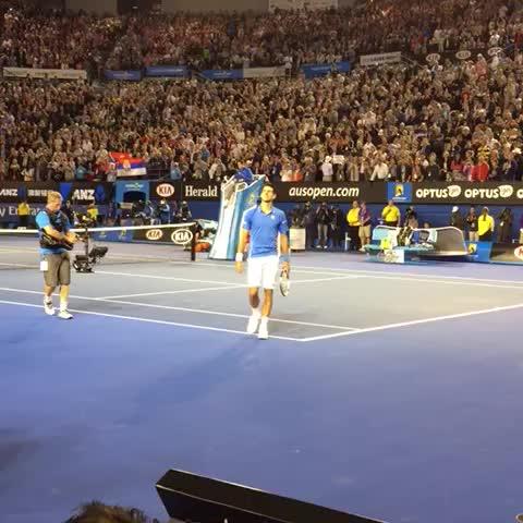 Vine by Australian Open - Result for a Nole fan. #ausopen #ausopenfinal