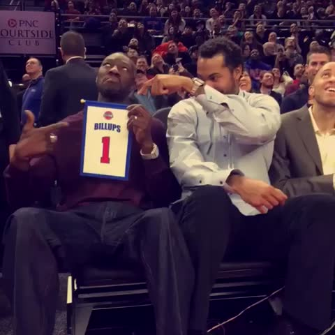 Vine by NBA - 2004 Champion Detroit Pistons squad having fun at Chaunceys jersey retirement! #NBAVine