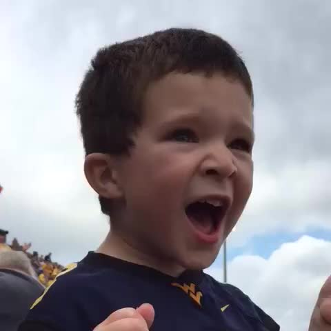 Vine by wolverine66 - Ethan counts down to the #wvu mountaineers taking the field. Hes intense. #HailWV #kid #kids