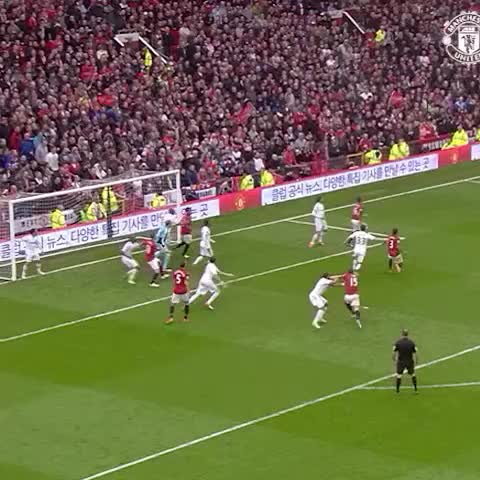 Vine by Manchester United - Rio fires home v Swansea in 2013 - Sir Alexs final home game as #mufc manager.