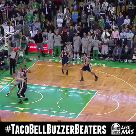 Vine by NBA - Tyler Zeller spins & throws up reverse layup for @Celtics win! #TacoBellBuzzerBeaters