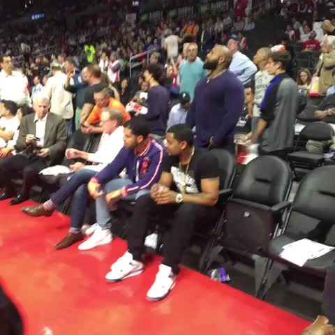 Vine by Los Angeles Clippers - Started from the bottom now hes courtside at STAPLES Center.