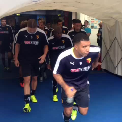 Vine by Watford FC - MATCHDAY: The #watfordfc squad are out for the warm-up before their fixture against #mcfc