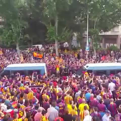 Vine by FC Barcelona - Great atmosphere #copaFCB #finalCopa #FCBarcelona