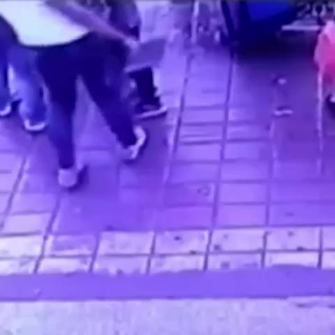 Vine by ABC News - People standing at a bus stop were swallowed by a #sinkhole that suddenly opened up in the pavement in the northern Chinese city of Harbin.
