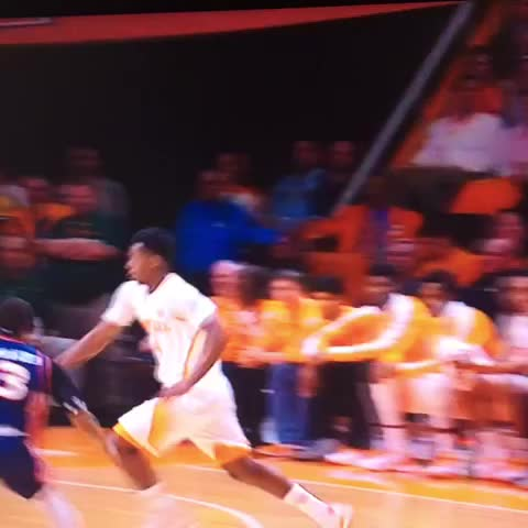 Vine by Rocky Top Insider - Armani Moore catches an elbow to the jaw, draws the foul and sinks the floater.