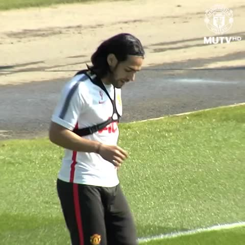 Vine by Manchester United - Falcao shows off some fancy footwork during #mufc training...