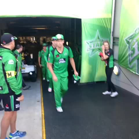 Vine by Melbourne Stars - The @StarsBBL are back on the @MCG #GoStars