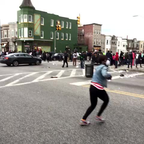 Vine by Colin Daileda - People looting a tavern on W. North. #Baltimore