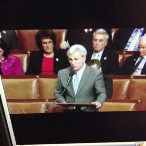 Vine by Luke Russert - Hoyer calls McCarthy a coward on House floor