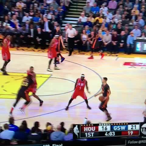 Vine by Warriors Nation - Curry with two threes to start! #CurryCounter #WarriorsNation #Warriors #Rockets #NBA