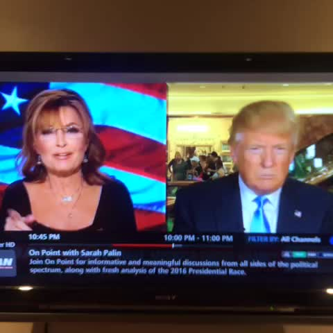 .@sarahpalinusa asking @realdonaldtrump the tough questions about his confrontation w/ Jorge Ramos. - Vine by KenVogel - .@sarahpalinusa asking @realdonaldtrump the tough questions about his confrontation w/ Jorge Ramos.