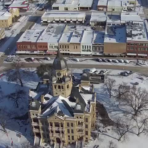 Vine by frank - Flying over the #Denton square in the #snow.