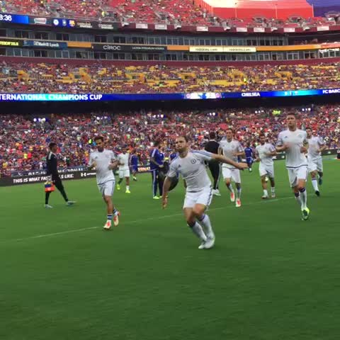 Vine by Chelsea FC - Warm ups done. Chelsea v Barcelona. Here we go... #CFCTour