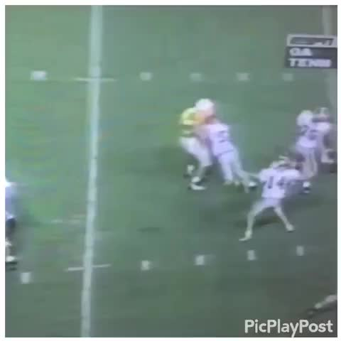 Vine by Leah Knight - #TBT to the time in 95 when @CoachBobo_CSU threw a touchdown over one of the Tennessee greats, @CoachFairCSU
